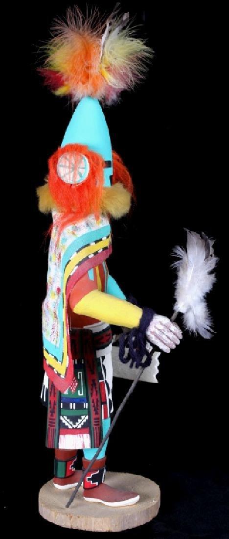 Hopi Hand Carved Signed Kachina Dolls (2) - 3