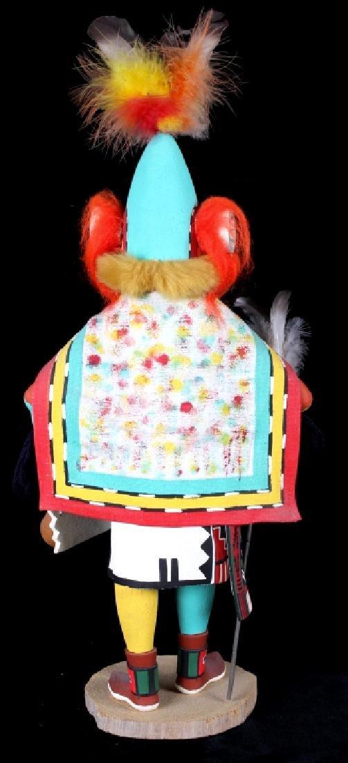 Hopi Hand Carved Signed Kachina Dolls (2) - 4
