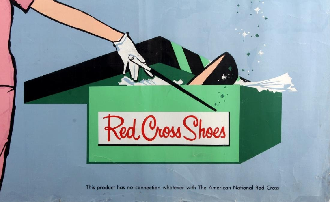 Original Red Cross Shoes Advertising Poster - 3
