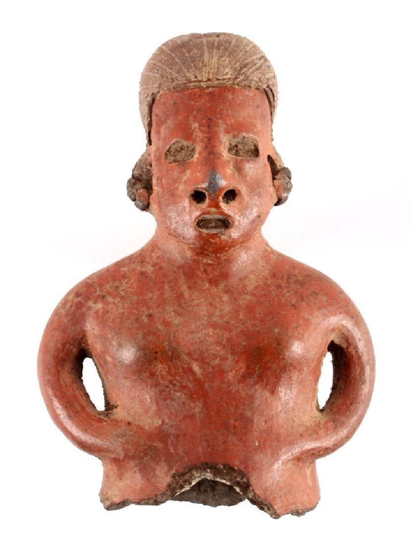 Pre-Columbian Mayan Pottery Figure circa 500 A.D.