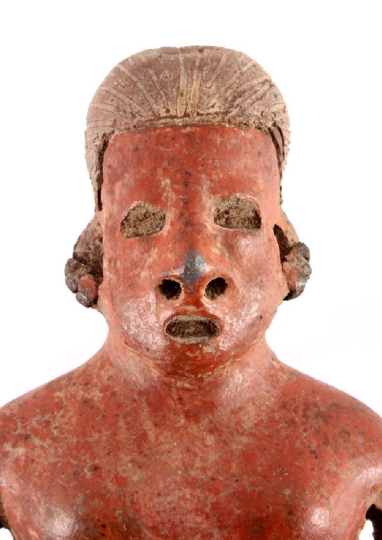 Pre-Columbian Mayan Pottery Figure circa 500 A.D. - 2