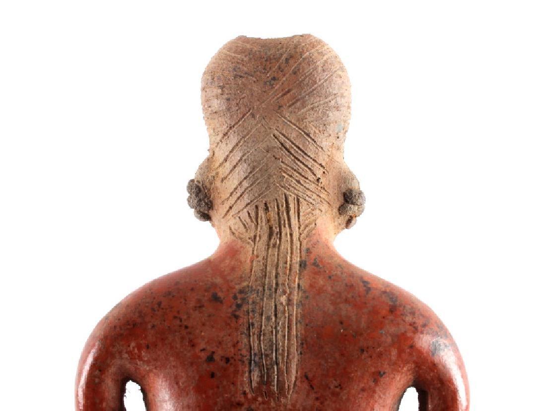 Pre-Columbian Mayan Pottery Figure circa 500 A.D. - 8