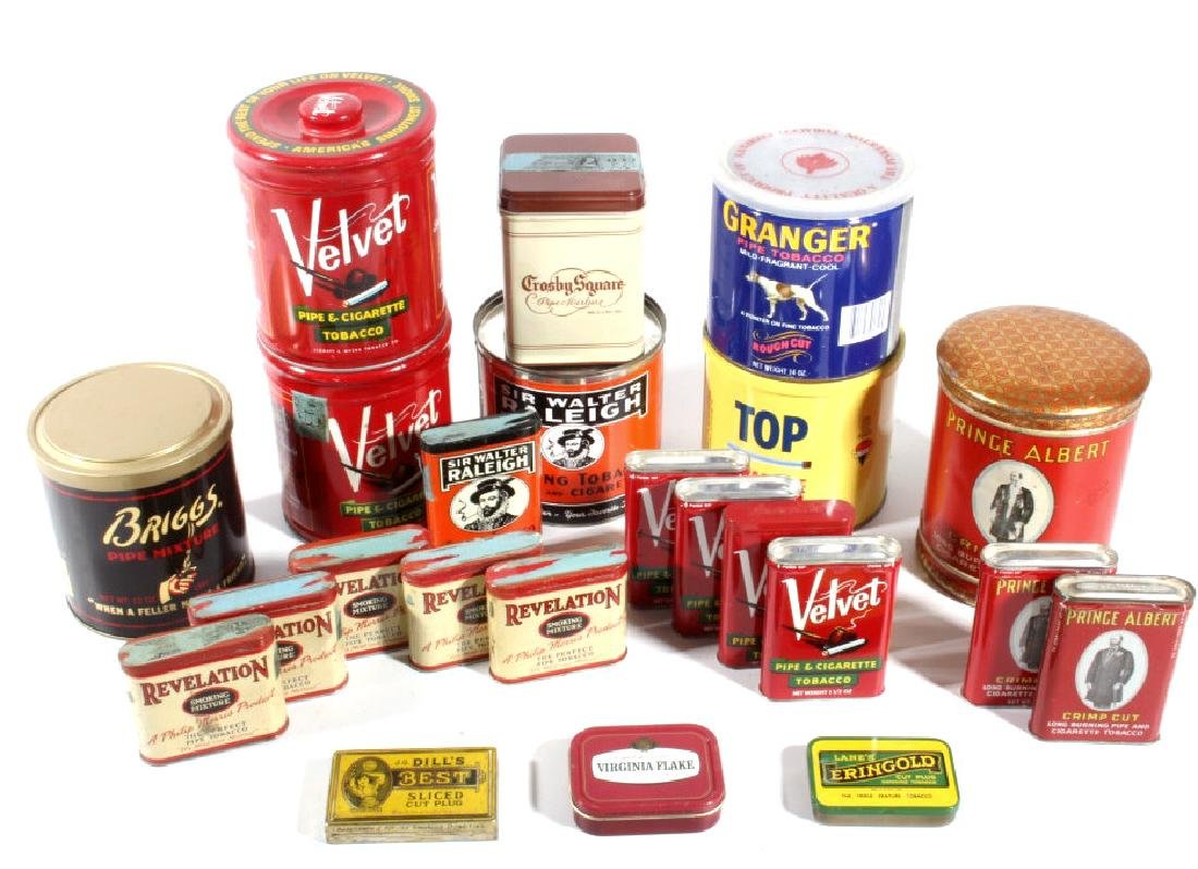 Collection of Assorted Tobacco Tins