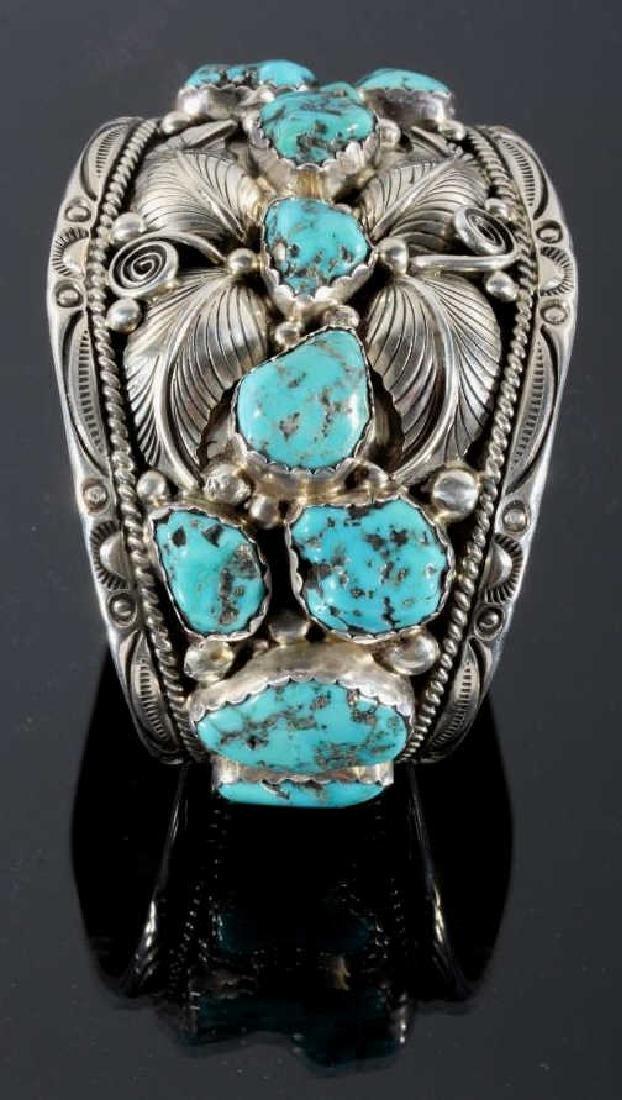 T. Singer Sterling & Morenci Turquoise Bracelet - 2