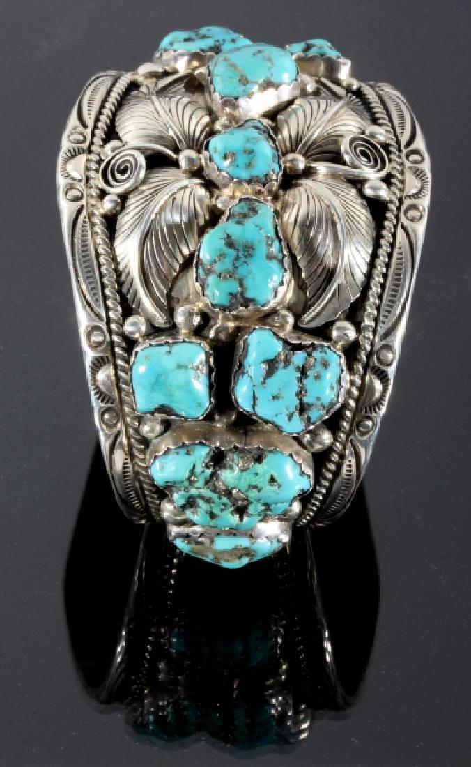 T. Singer Sterling & Morenci Turquoise Bracelet - 3
