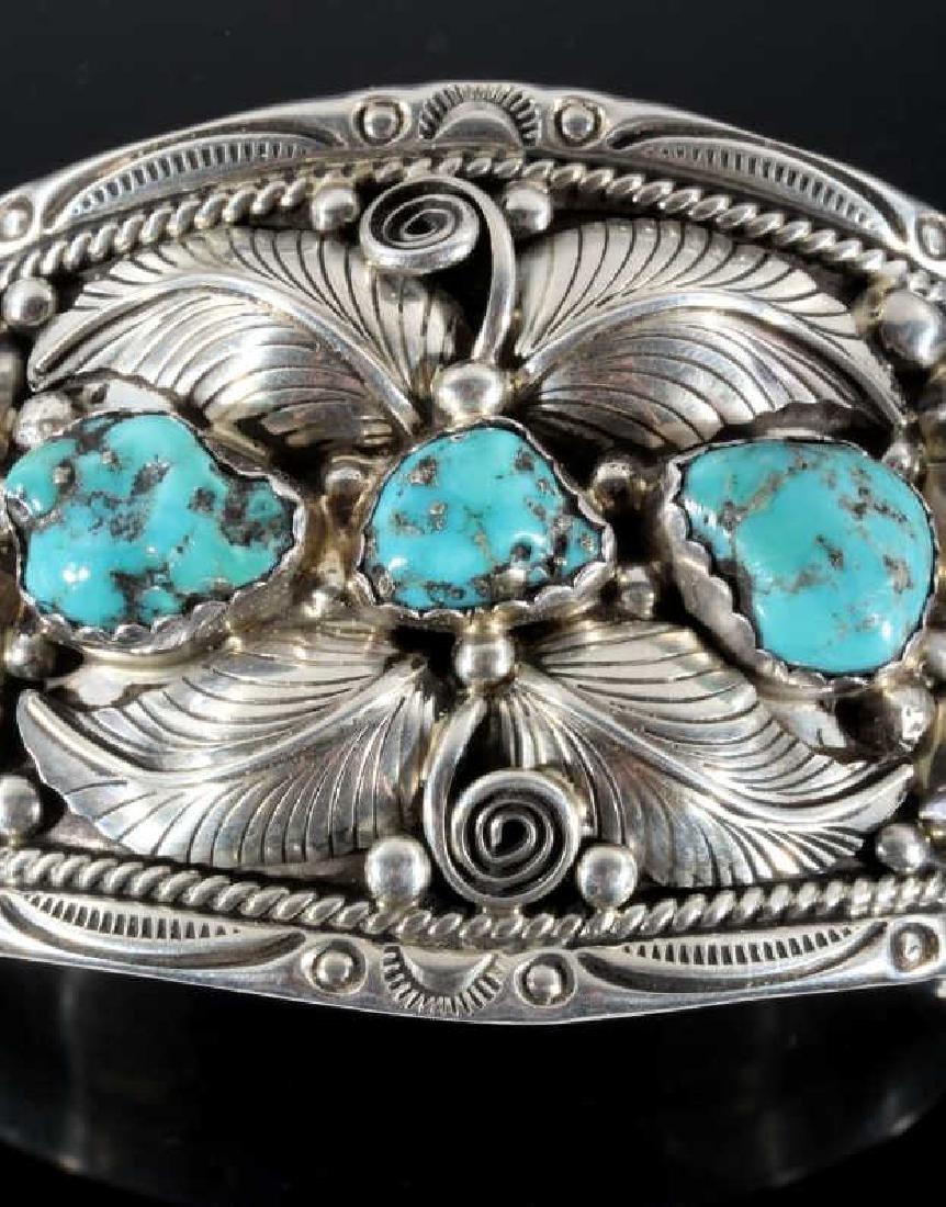 T. Singer Sterling & Morenci Turquoise Bracelet - 4