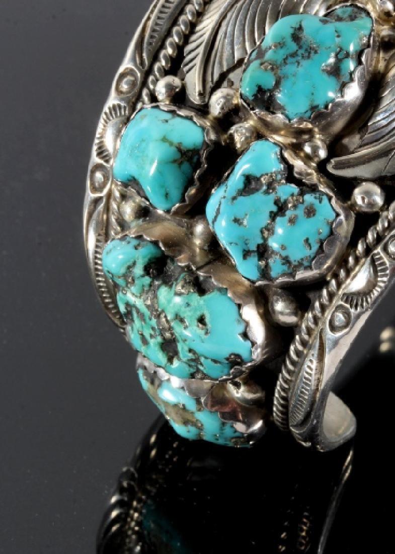 T. Singer Sterling & Morenci Turquoise Bracelet - 6