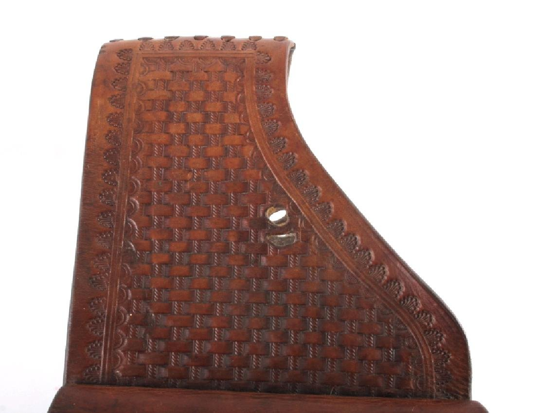 Early Montana Tooled Leather Western Saddlebags - 3