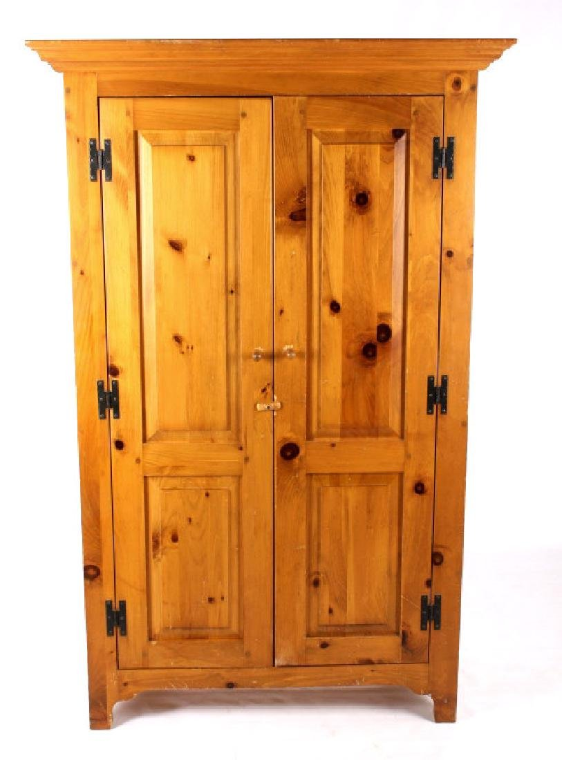 Solid Oak Golden Armoire Dresser