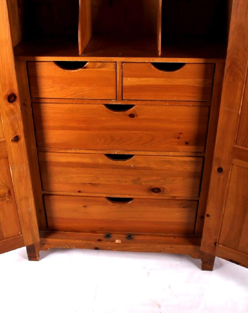 Solid Oak Golden Armoire Dresser - 4