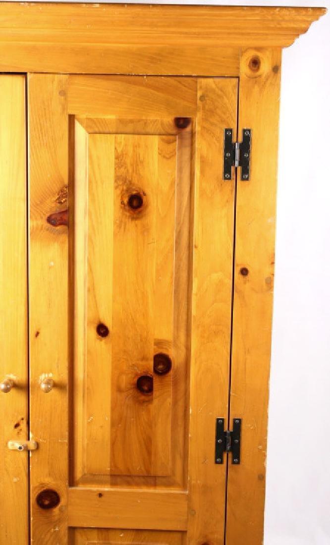 Solid Oak Golden Armoire Dresser - 5