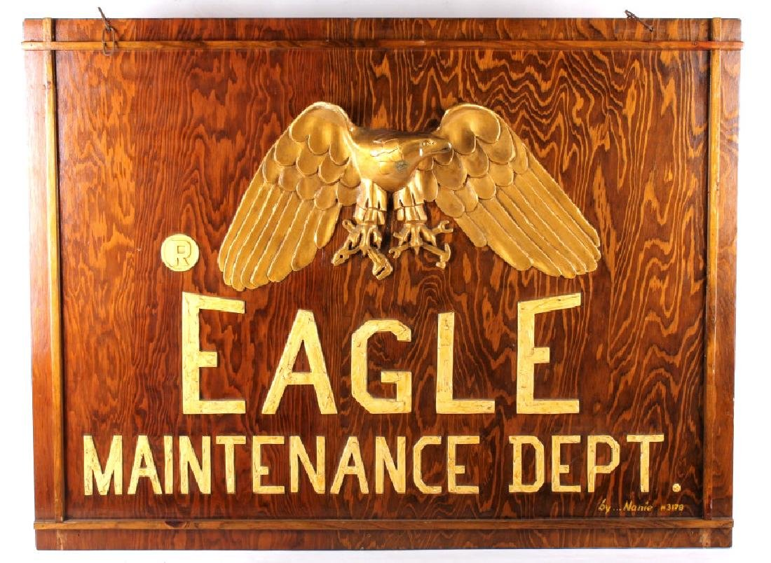 Eagle Maintenance Dept Wood Trade Sign - 2