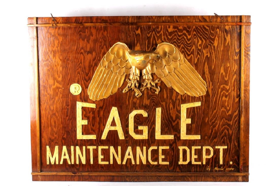 Eagle Maintenance Dept Wood Trade Sign - 3