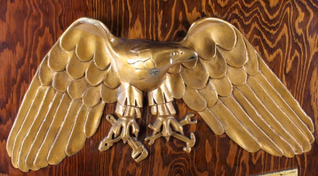 Eagle Maintenance Dept Wood Trade Sign - 4