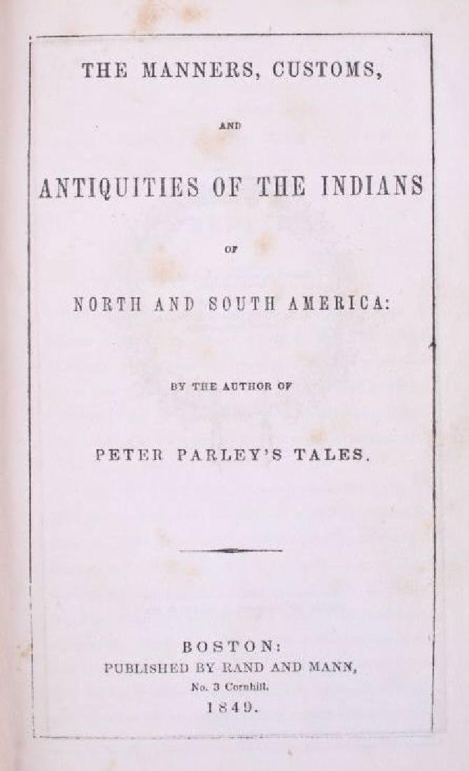 Manners & Customs of the American Indians 1849 - 4