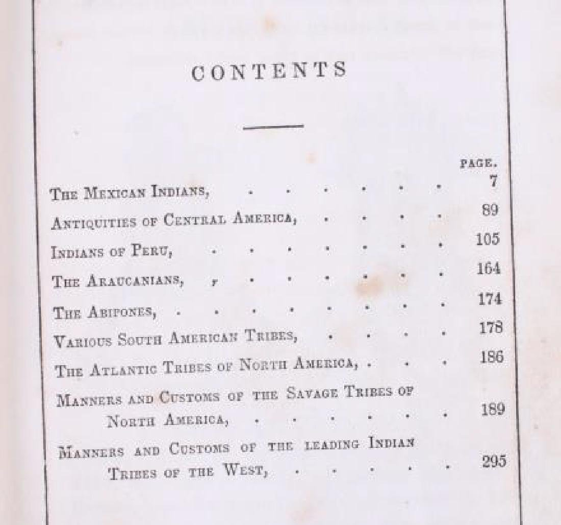 Manners & Customs of the American Indians 1849 - 6