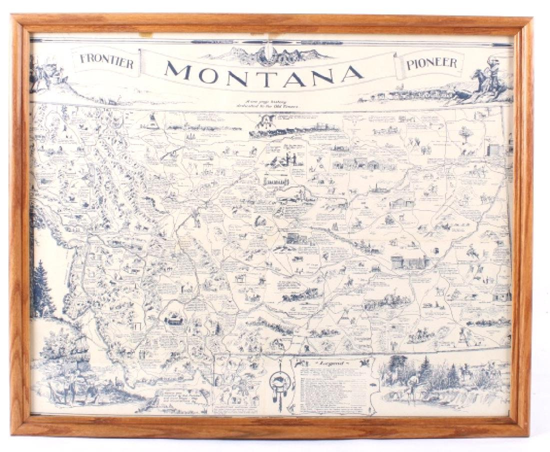 1936 Irvin Shope Antique Montana Pictorial Map