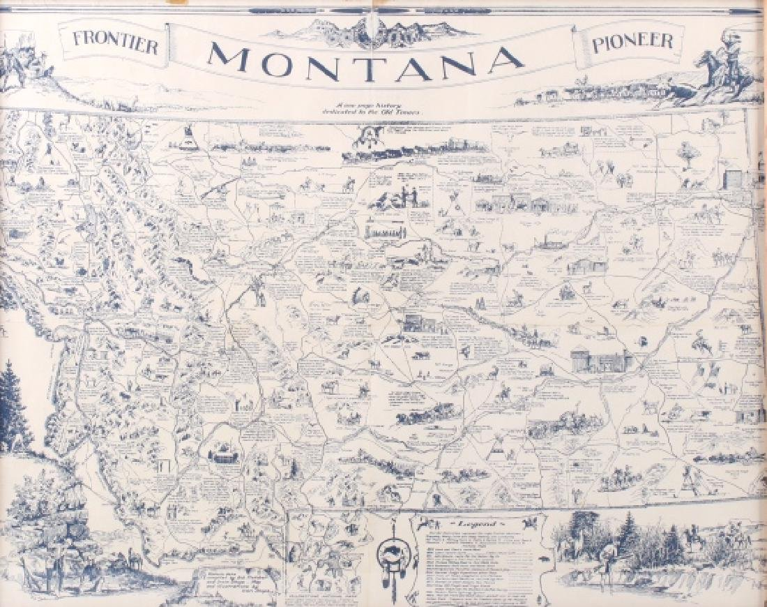 1936 Irvin Shope Antique Montana Pictorial Map - 2