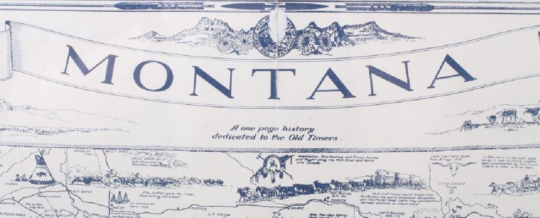 1936 Irvin Shope Antique Montana Pictorial Map - 3