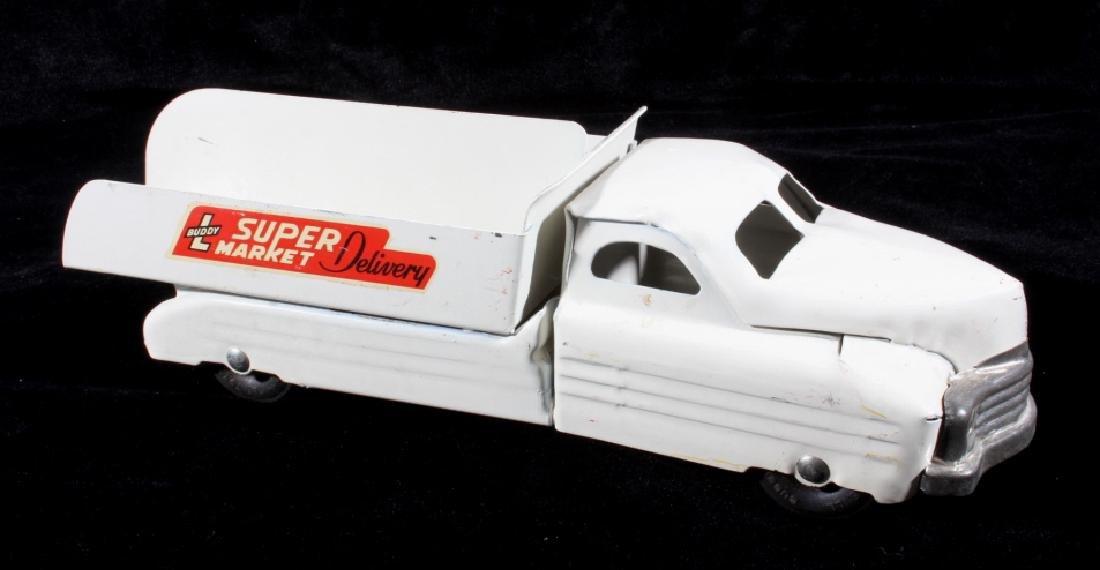 Buddy L Super Market Delivery Pressed Steel Truck - 4