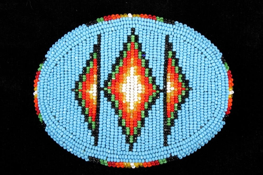 Flathead Indian Beaded Belt Buckle
