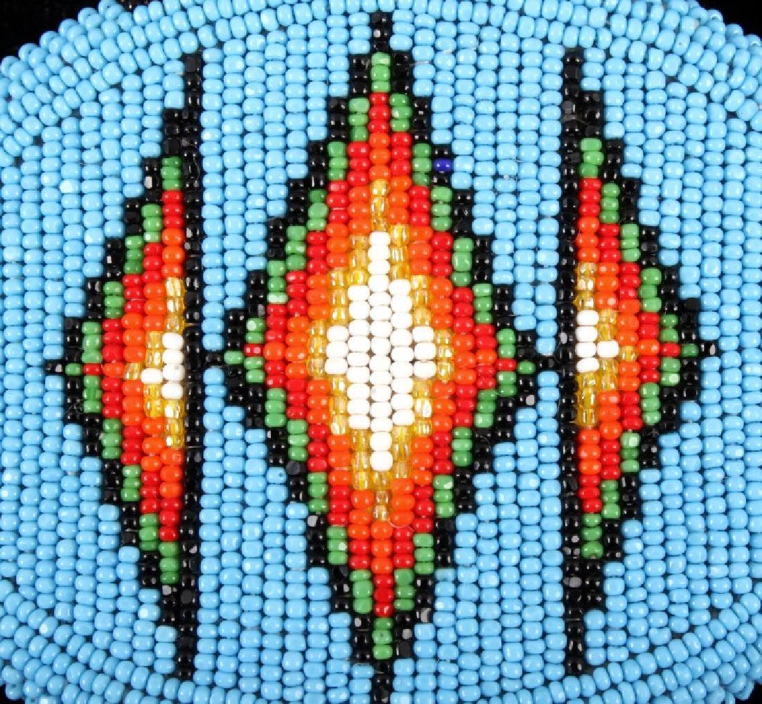 Flathead Indian Beaded Belt Buckle - 2