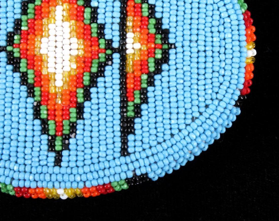 Flathead Indian Beaded Belt Buckle - 3