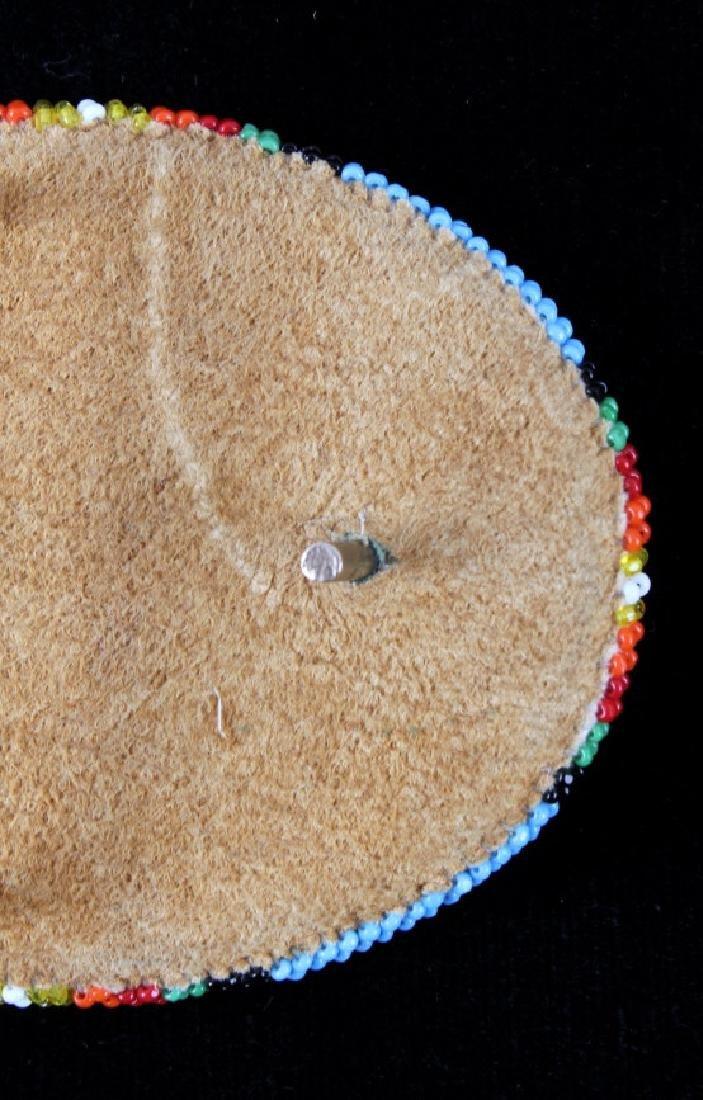 Flathead Indian Beaded Belt Buckle - 5