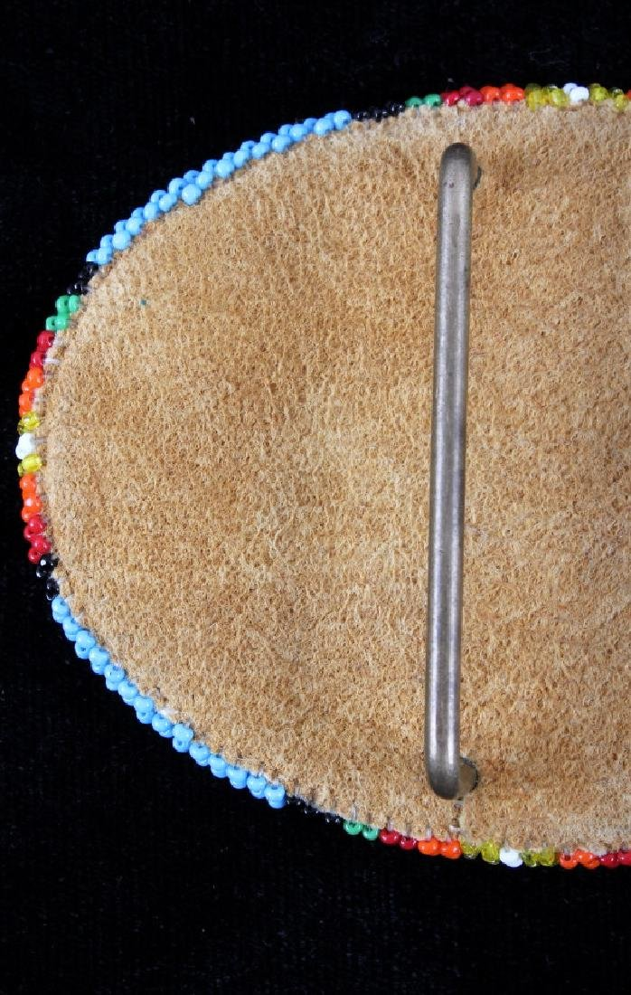 Flathead Indian Beaded Belt Buckle - 6