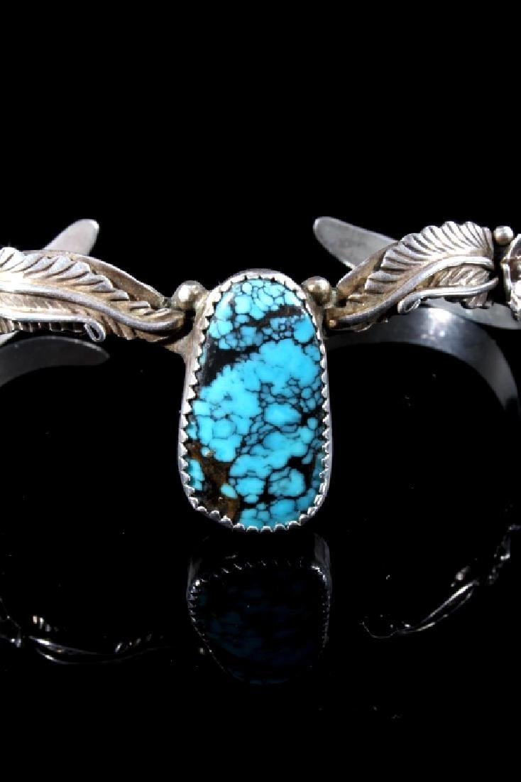 Navajo Sterling Silver and Turquoise Bracelet - 2