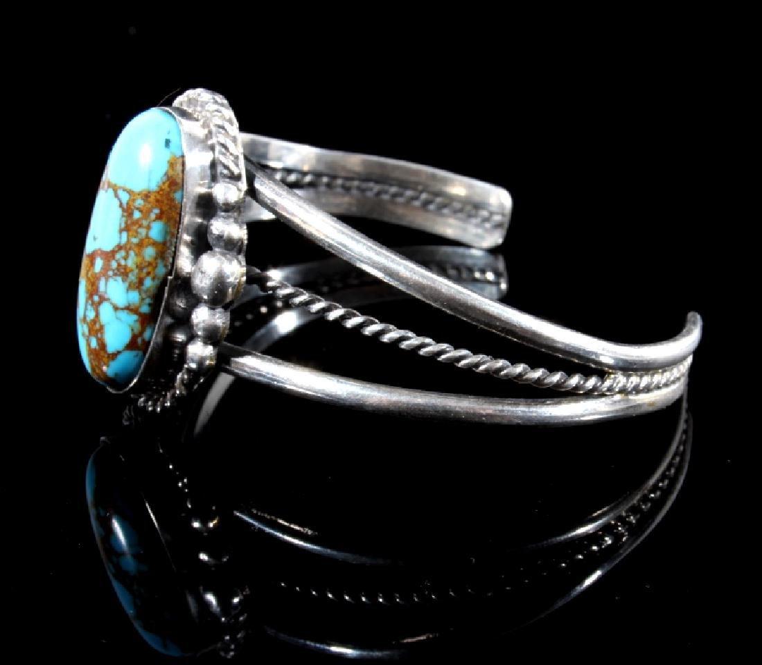 Navajo Sterling Silver & Turquoise Bracelet - 2