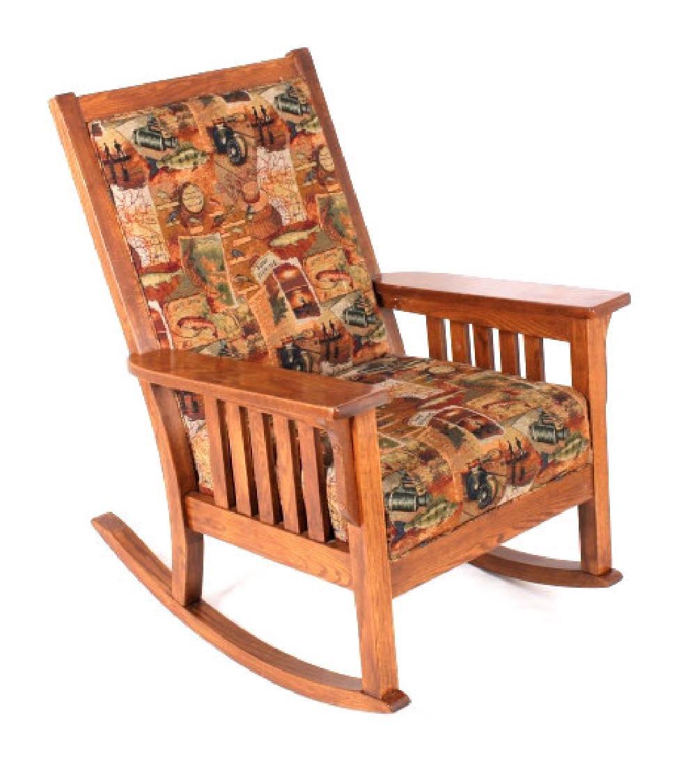 Towne Square Oak Porch Rocking Chair