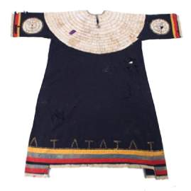 Sioux Dentalium Shell Beaded Dress c. 1880