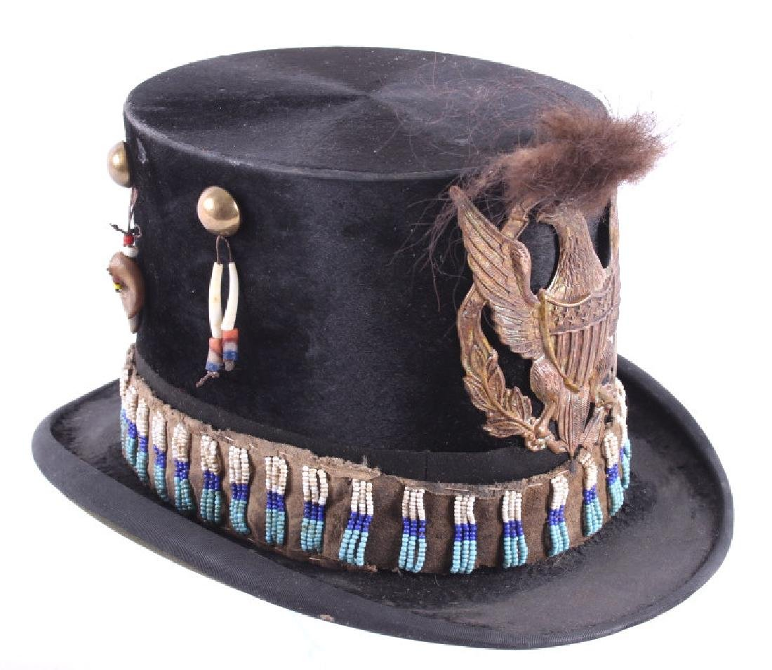 Sioux Native American Indian Beaded Top Hat