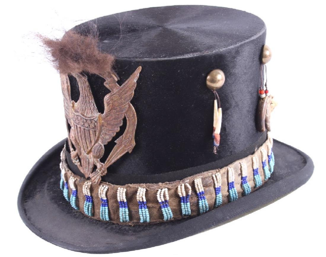 Sioux Native American Indian Beaded Top Hat - 2