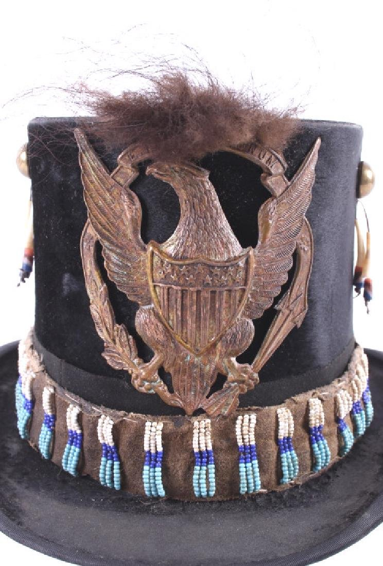 Sioux Native American Indian Beaded Top Hat - 3