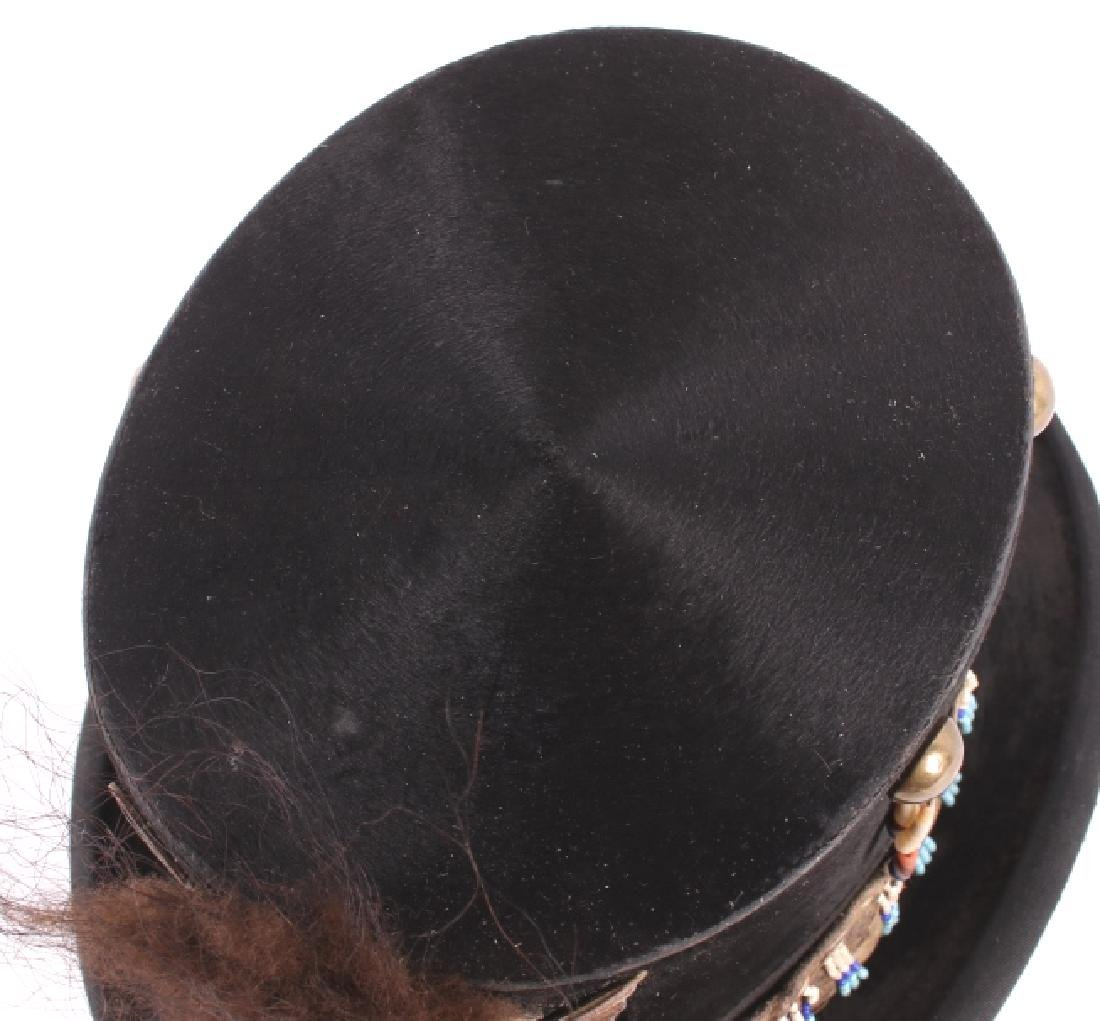 Sioux Native American Indian Beaded Top Hat - 4