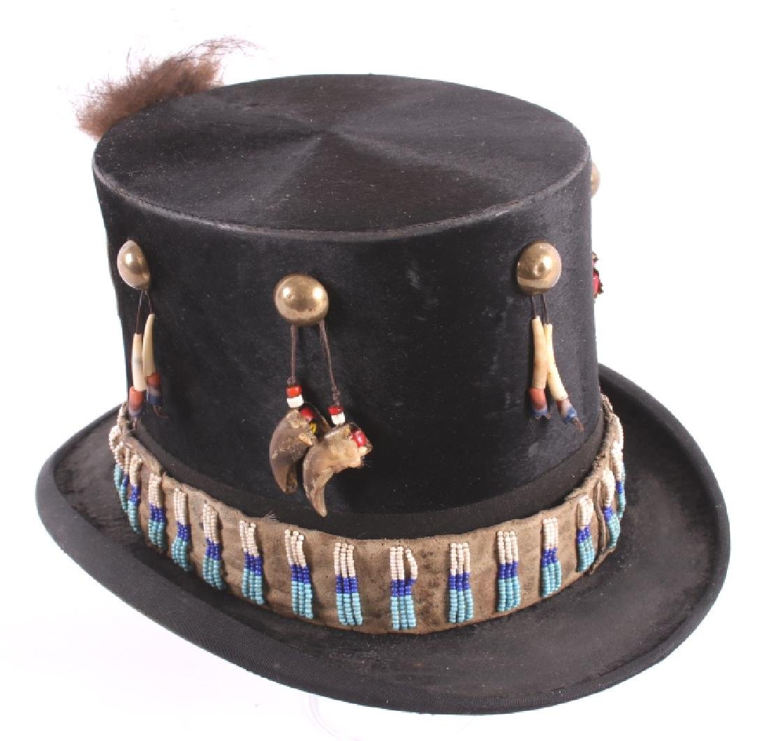 Sioux Native American Indian Beaded Top Hat - 5