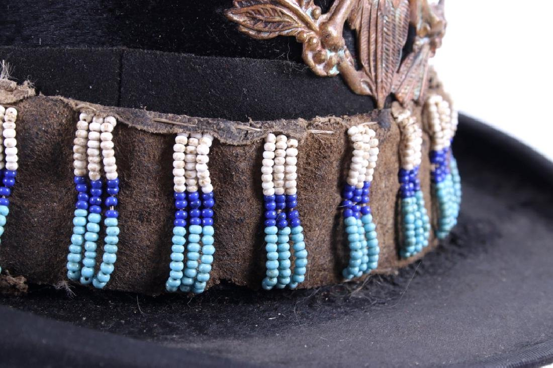 Sioux Native American Indian Beaded Top Hat - 9