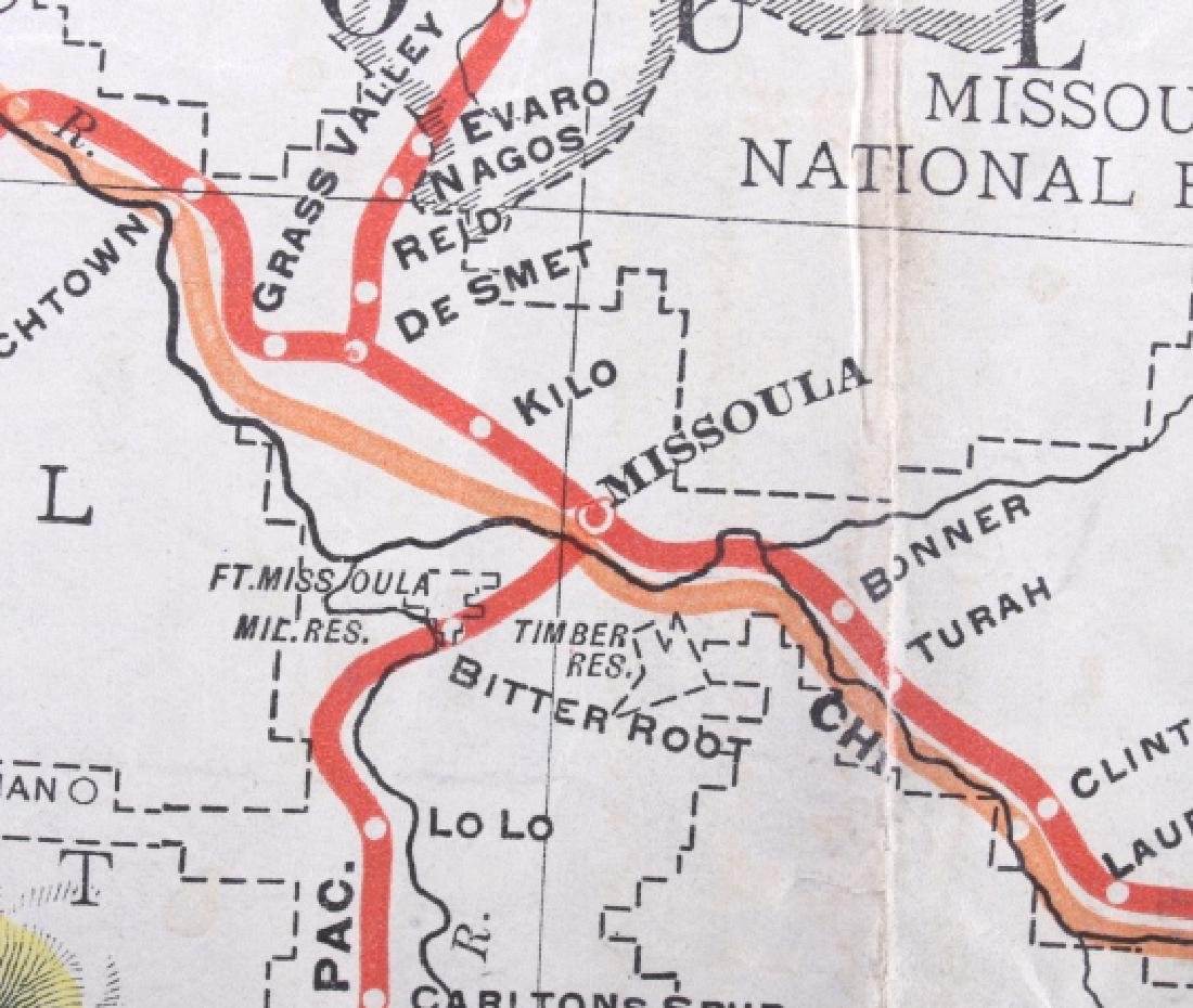 1908 Railroad Commission Map of Montana - 10