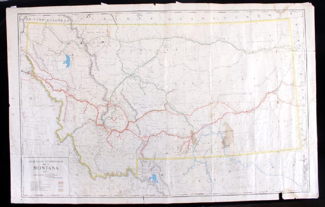 1908 Railroad Commission Map of Montana