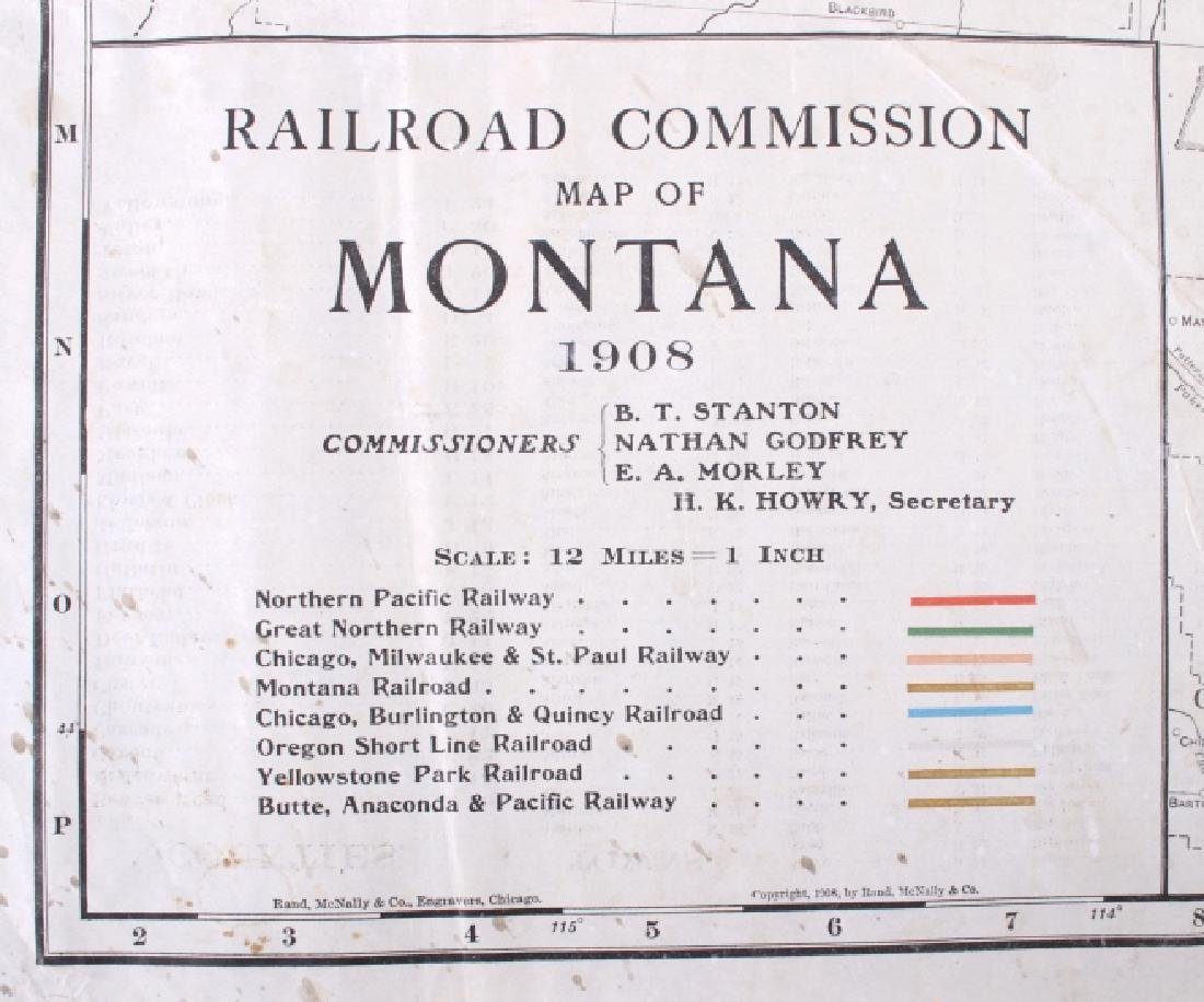 1908 Railroad Commission Map of Montana - 3