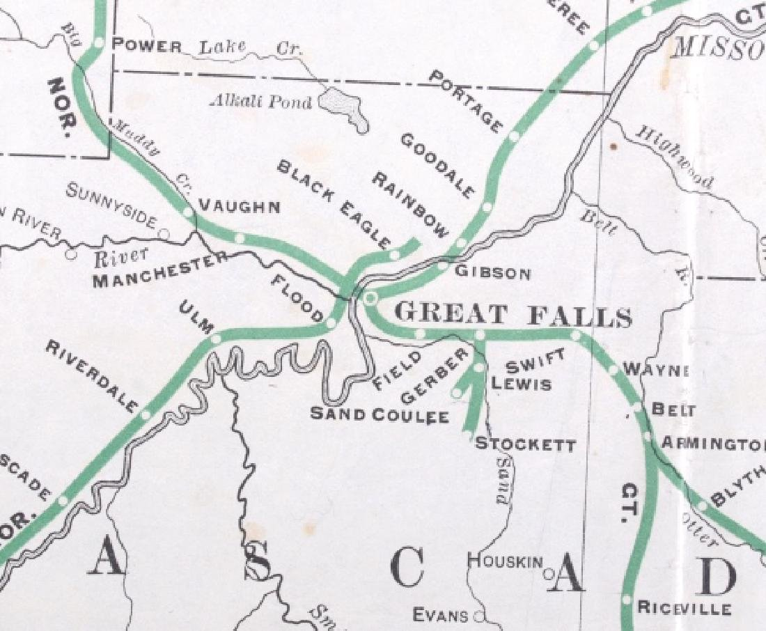 1908 Railroad Commission Map of Montana - 8