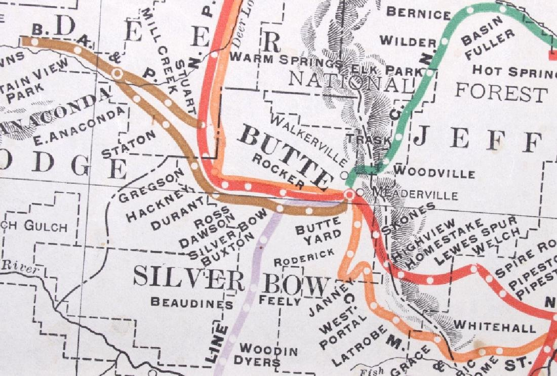 1908 Railroad Commission Map of Montana - 9