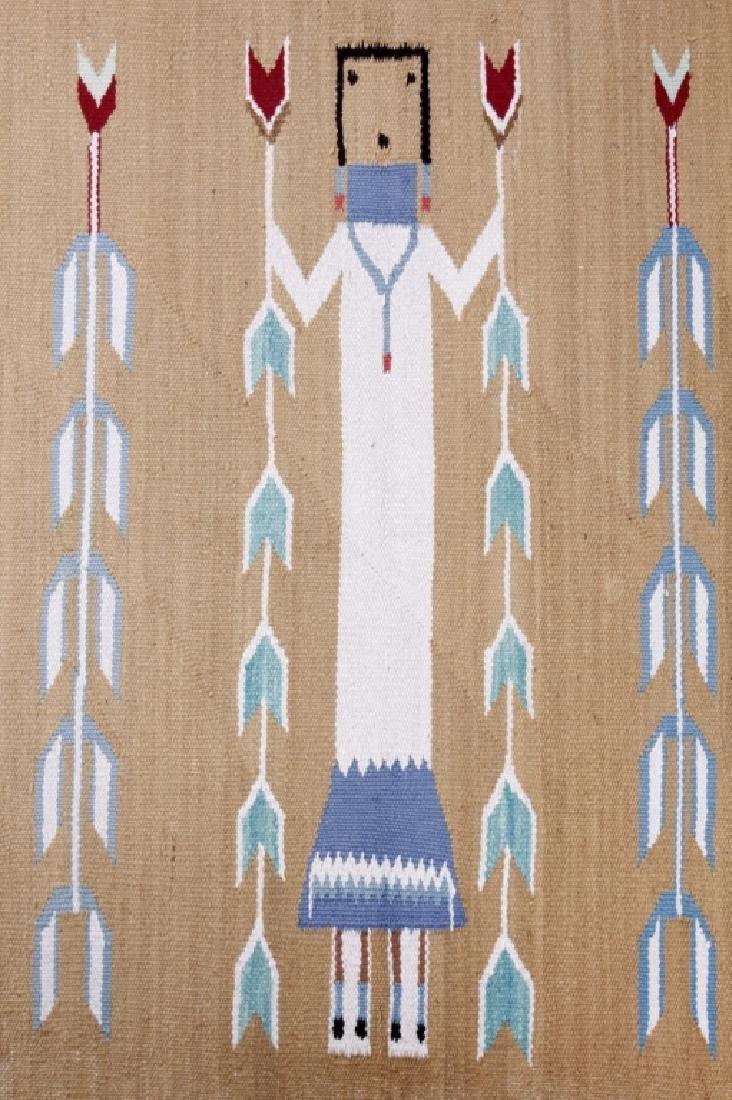 Navajo Polychrome Yei Rug Early 1900 - 2