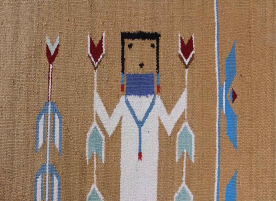 Navajo Polychrome Yei Rug Early 1900 - 6