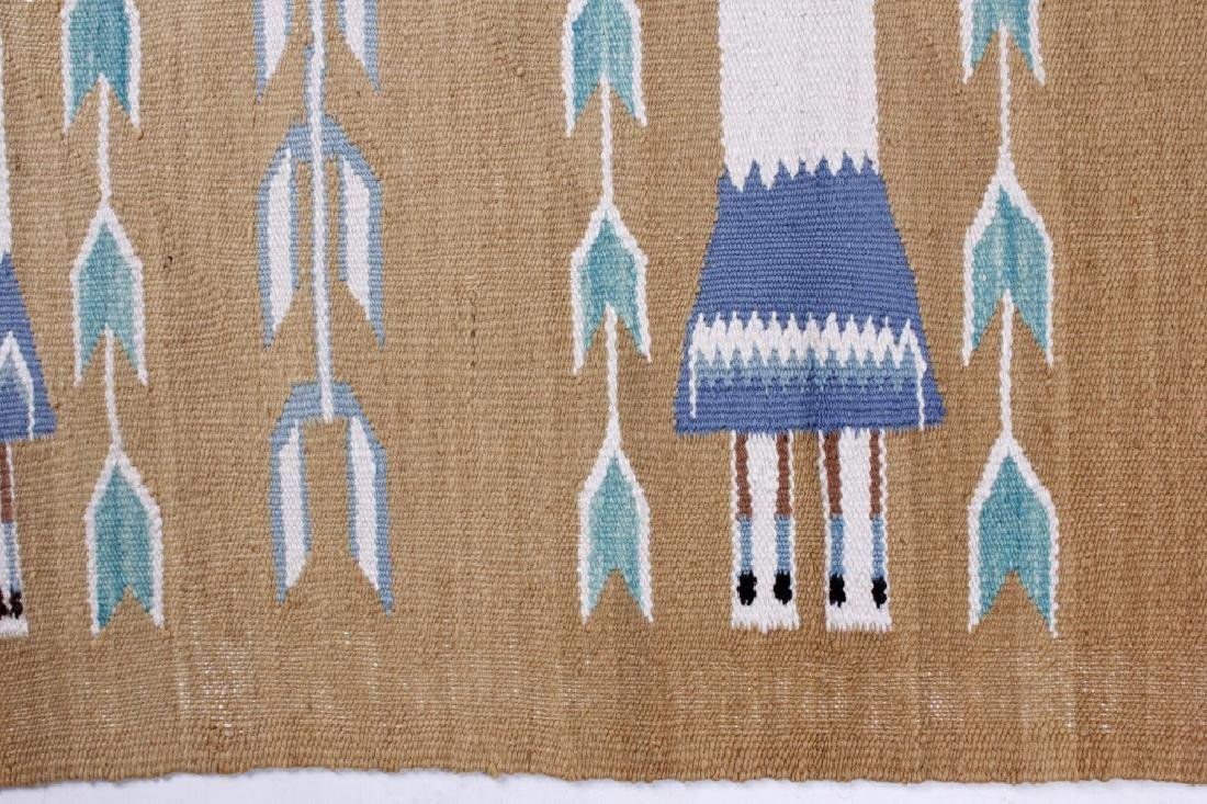 Navajo Polychrome Yei Rug Early 1900 - 7