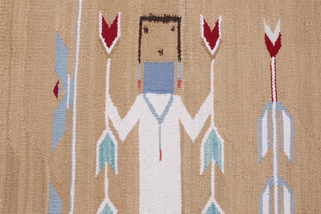 Navajo Polychrome Yei Rug Early 1900 - 8