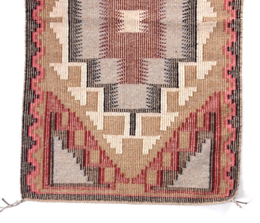 Navajo Ganado Wool Hand Woven Rug - 2