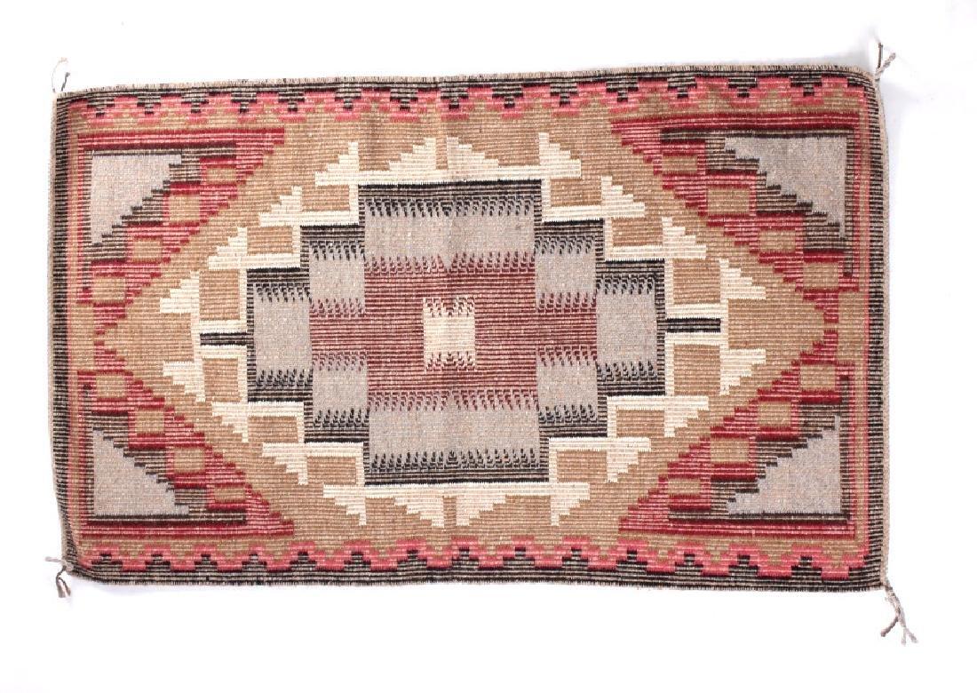 Navajo Ganado Wool Hand Woven Rug - 3